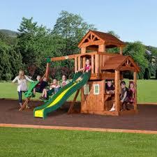 backyard discovery wood swing sets you u0027ll love wayfair