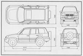size of toyota rav4 toyota rav4 5 door 1994 smcars car blueprints forum