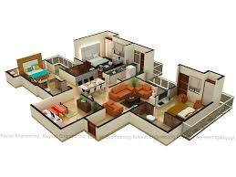 25 more 3 bedroom 3d floor plans modern house de luxihome