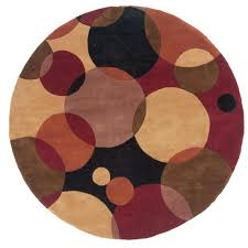 Black Round Area Rugs by Home Decorators Collection Rush Blue 5 Ft 9 In Round Area Rug