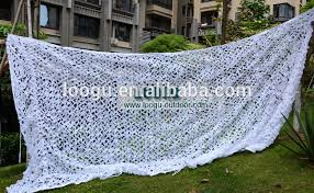 Camouflage Netting Decoration S210d White Snow Camouflage Netting For Wedding Decoration Music