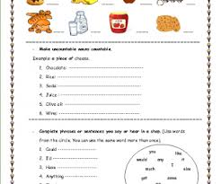 Countable And Uncountable Nouns Practice Pdf 77 Free Restaurants And Cafes Worksheets