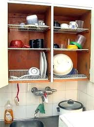 Kitchen Cabinet Plate Rack Storage Dish Storage Ideas Kitchen Dish Storage Kitchen Rack Cabinet Plate