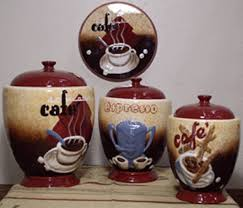 themed kitchen canisters coffee themed kitchen decor canister randy gregory design