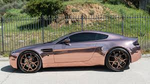 custom aston martin dbs dub magazine rose gold aston martin vantage forgiatos