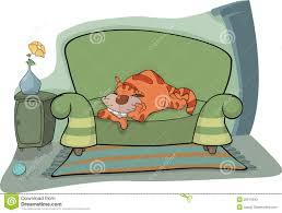 Couch Cartoon Feline Clipart Sofa Pencil And In Color Feline Clipart Sofa