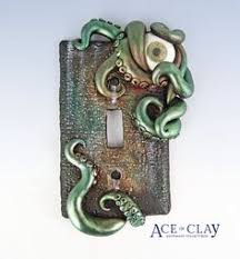 cold cast bronze octopus single toggle light switch cover wall