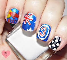 formula 1 nail art beautify themselves with sweet nails