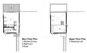 Stilt House Floor Plans Steel Clad 350 Sq Ft Modern Cabin On Stilts With Shutters