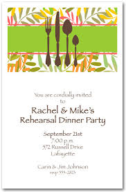 dinner party invitations place setting on twisted vines dinner party invitations
