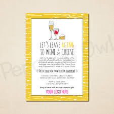 Launch Invitation Card Sample Leave Aging To Wine And Cheese Invitation Direct Selling