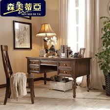 Office Desk Solid Wood 1 4 M American Country Office Desk Solid Wood Study Table Writing
