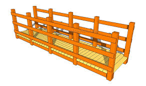 Wooden Planter Plans Howtospecialist How by Backyard Bridge Building Home Outdoor Decoration