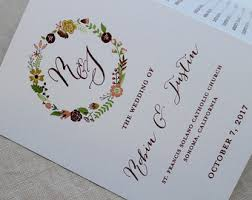 tri fold wedding programs tri fold wedding program