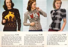 1940s sweater styles s pullovers and cardigans
