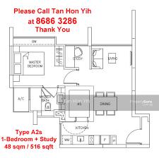 sqm to sqft riverbay 1 bedroom study type a1s a2s 48 sqm 516 sqft br sant