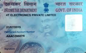 pan card 4t india