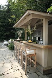 Backyard Bar Ideas Traditional Designed Bar Stools Which Is Made Of Wood Element