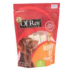 ol u0027 roy munchy bone peanut butter flavor chews dog treats 7 ct