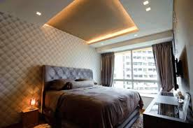 latest false ceiling designs bedroom white slick beauty suede