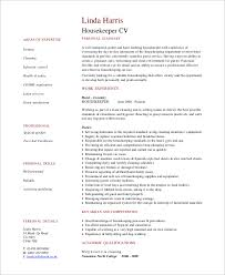 Example Housekeeping Resume by Sample Housekeeping Resume 7 Examples In Word Pdf