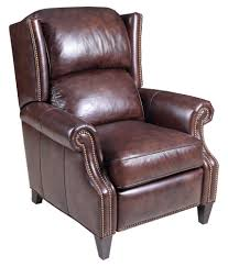 Brown Leather Recliner Chair Hooker Furniture Reclining Chairs Transitional High Leg Recliner