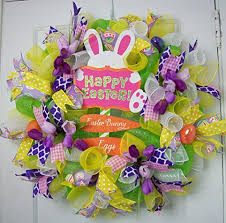 door decorations for spring amazon com spring easter bunny wreath spring decor spring door