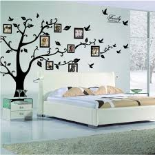 black 3d diy photo tree pvc wall decals adhesive family wall