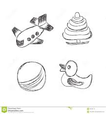 toys icons sketch illustration set clip art hand drawing
