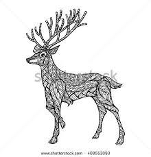 ethnic ornamental patterned deer stock vector 408553093