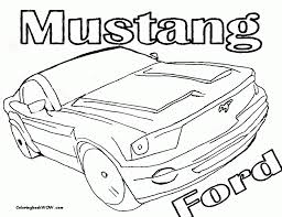 mustang car coloring pages kids coloring