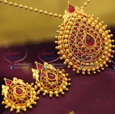 kempu earrings ps0649 indian fashion jewelry gold plated kempu temple stones