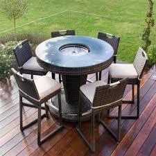 maze rattan 6 seat round garden bar set with ice bucket internet