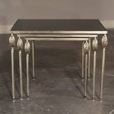 what are nesting tables mid century french mirrored nesting tables with regard to mirrored