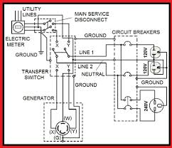 automatic generator transfer switch wiring diagram single phase