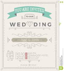Vintage Wedding Invitation Card Vintage Wedding Invitation Card Template Stock Vector Image