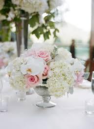 low wedding reception centerpiece white u0026 pink flowers