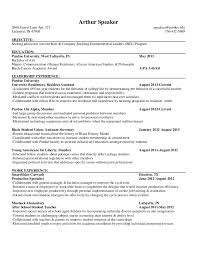 Undergraduate Sample Resume by 17 Sample Resumes For College Resume Example For An