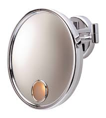 Magnifying Bathroom Mirror With Light Jerdon Jd8c 3x Magnification Lighted Wall Mount