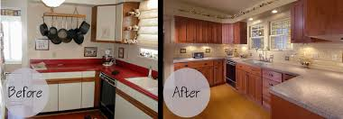 Kitchen Cabinet Doors Refacing by Resurfaced Kitchen Cabinets Before And After On 550x367 Kitchen