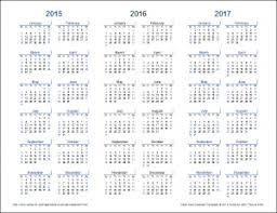 2016 new blank large free year calendar template