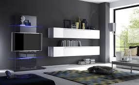 Wohnzimmer Vitrine Dekorieren Wohnwand Monty 351x207x47 Cm Weiß Eiche Schrankwand Wohnzimmer Led