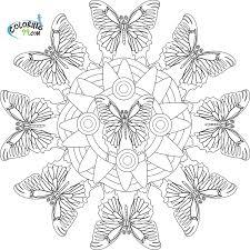 printable butterfly mandala coloring page mediafoxstudio com