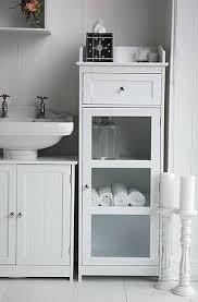 Bathroom Furniture White Gloss White Freestanding Bathroom Cabinet Essence White Gloss Laundry