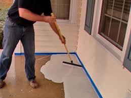 Concrete Patio Resurfacing Products by How To Stamp A Concrete Porch Floor How Tos Diy
