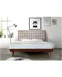 White King Platform Bed Deals 62 Baxton Studio Soloman Fabric Upholstered