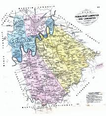Map Of Pennsylvania Counties Early Landowners Of Lancaster County