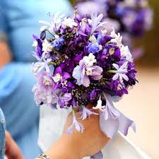 purple u0026 blue wedding bouquets