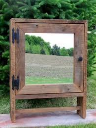 Wood Bathroom Medicine Cabinets With Mirrors by Vintage Wooden Bathroom Medicine Cabinet W Beveled Mirror Ebay