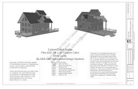 Typical Floor Framing Plan by Custom Cabin Plans Sds Plans